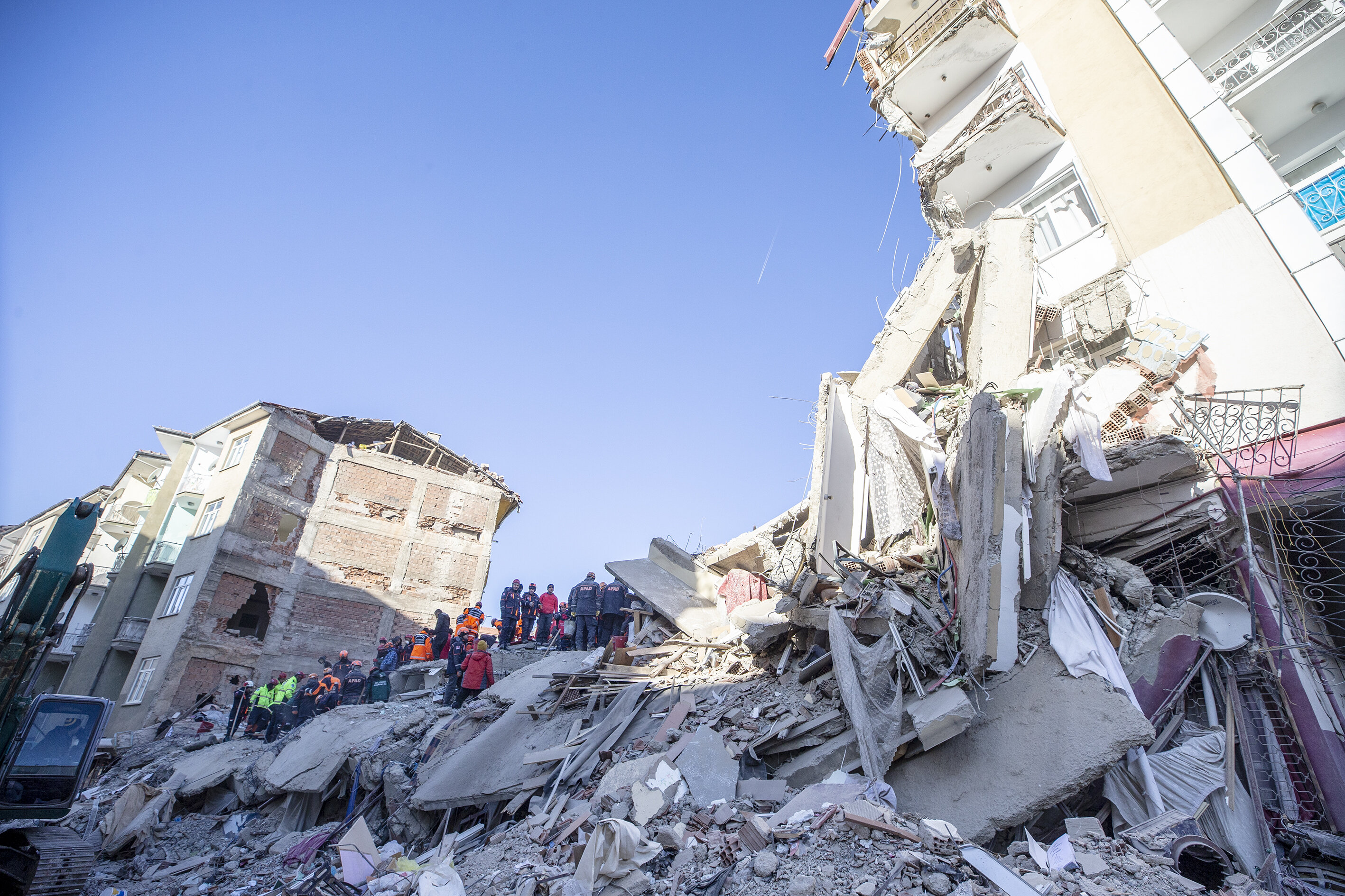 Earthquake aftermath in the eastern Turkish city of Elazığ