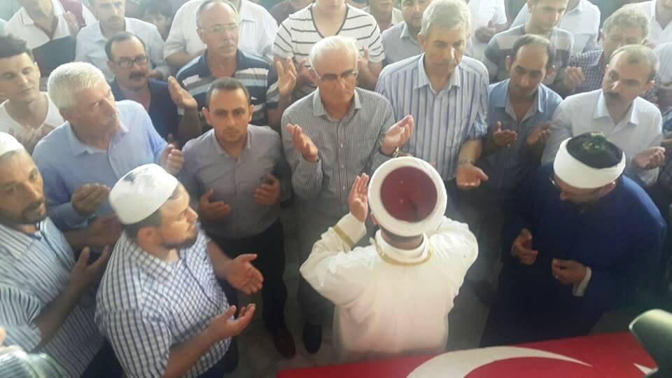 Cenazesi memleketi Samsun'un Alaçam İlçesi'ne getirilen Aksu için bugün Doyran Mahallesi'nde cenaze töreni düzenlendi.