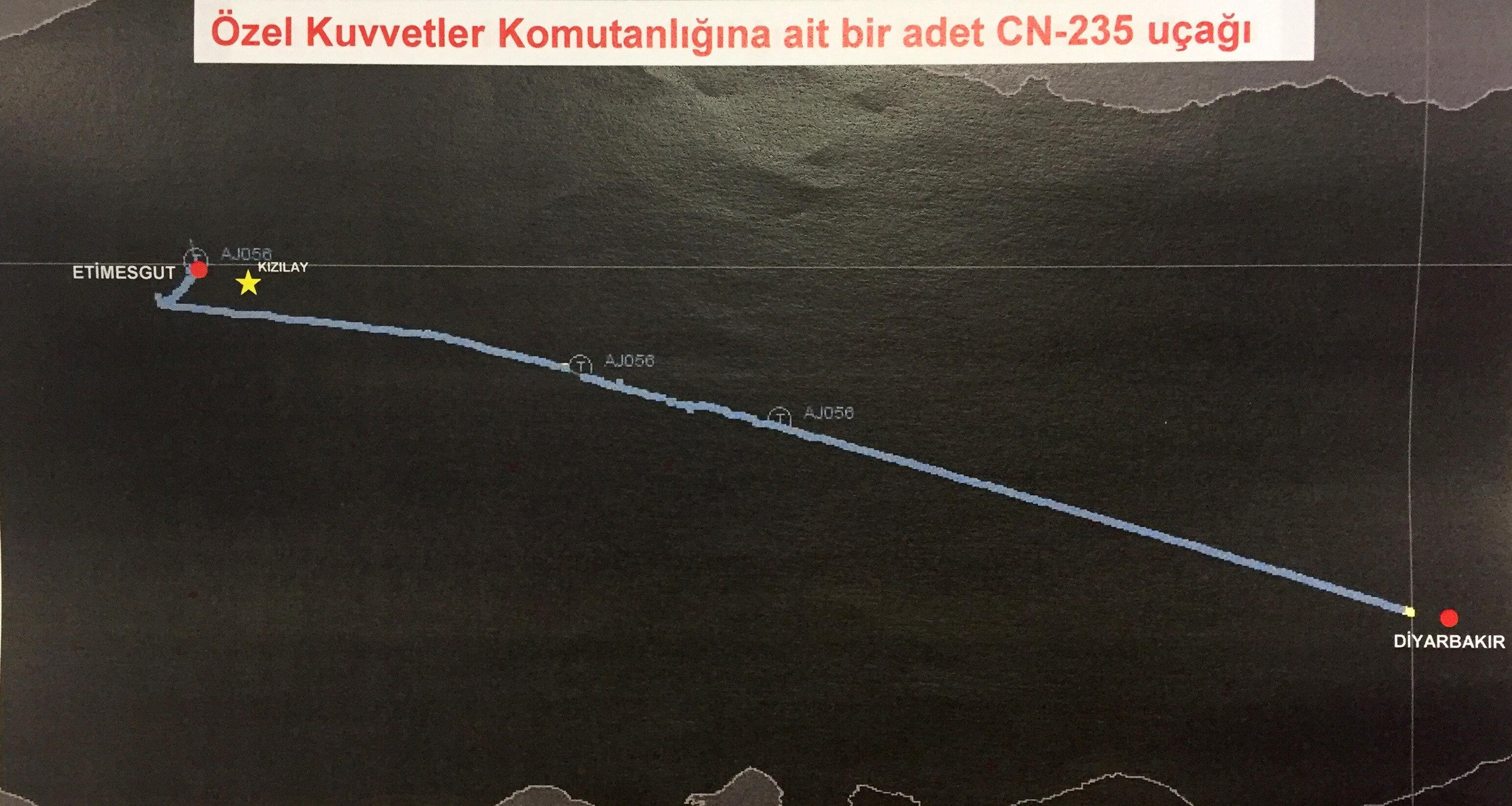 Radar izi tespit edilen Diyarbakır'dan havalanan ve Ankara'ya iniş yapan Özel Kuvvetler Komutanlığına ait uçakta, darbe girişimi gecesi şehit edilen Astsubay Ömer Halisdemir'in, silahla vurarak öldürdüğü darbeci general Tuğgeneral Semih Terzi ve ekibini taşıdığı tespit edildi.