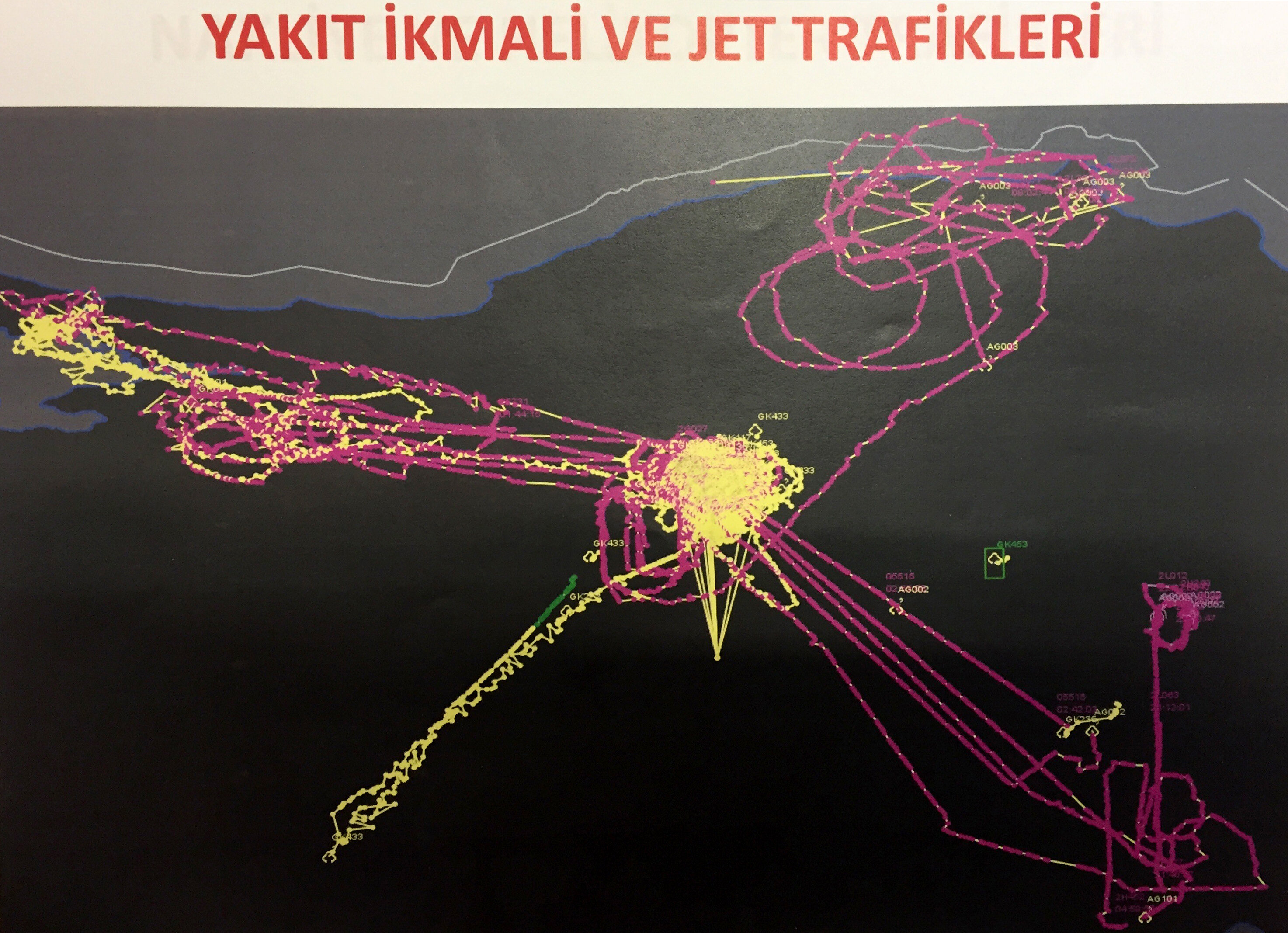 Flight records also show similar heavy traffic over İncirlik Air Base. It was detected that squirts taking off from İncirlik delivered fuel to aircraft used in the coup attempt. Fuel transfers were also indicated in the flight records.