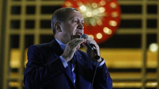 Erdoğan, Külliye'de halka seslendi