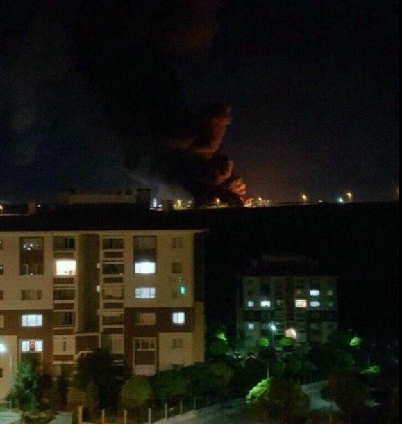 47 polisimizin şehit olduğu bombalama anı bir vatandaşın penceresinden çektiği fotoğrafta böyle görüntülendi.